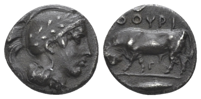 Lucania, Thurium Triobol circa 443-400 (Starting Bid £ 60 )