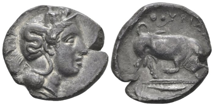 Lucania, Thurium Nomos circa 410-400 (Starting Bid £ 75 *)