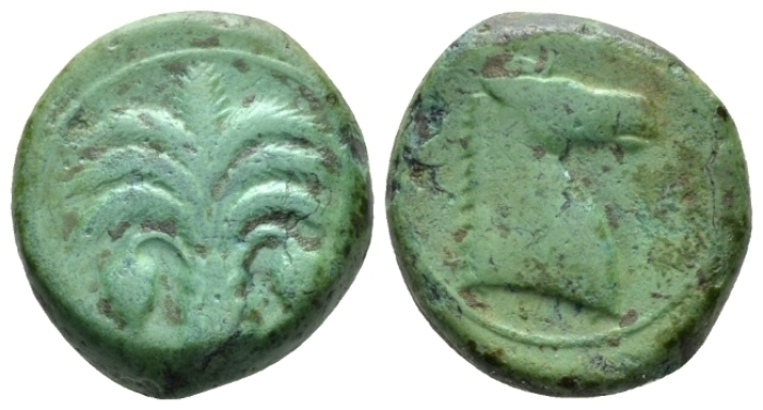 The Carthaginians in Sicily and North Africa, Carthage (?) Bronze circa 340-320 (Starting Bid £ 30 *)