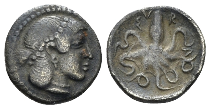 Sicily, Syracuse Litra circa 466-460 - From a collection formed in '30. With collector's ticket. (Starting Bid £ 30 *)