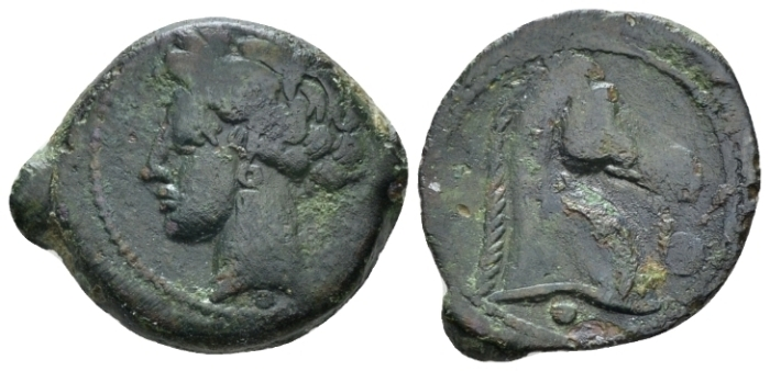 The Carthaginians in Sicily and North Africa, Carthage or Sardinia Bronze circa 300-264 (Starting Bid £ 30 *)