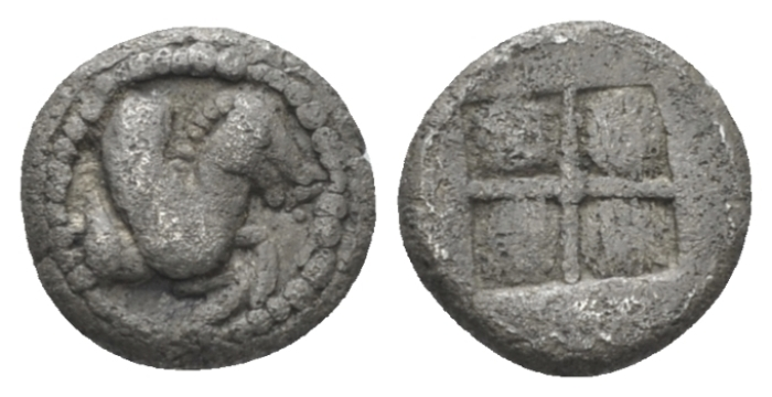 Macedonia, Argilos Obol circa 495-478/7 (Starting Bid £ 35 )