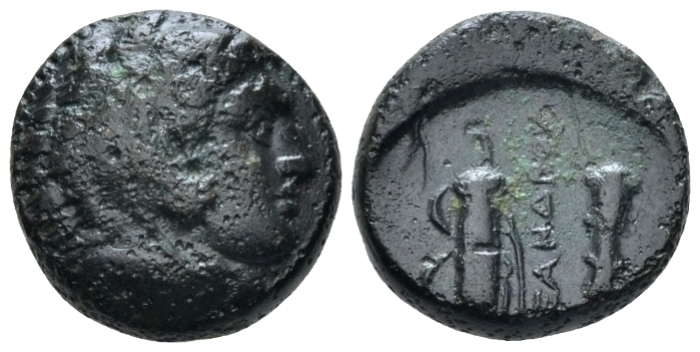 Kingdom of Macedon, Alexander III, 336 – 323 Uncertain mint Bronze circa 336-323 (Starting Bid £ 25 *)