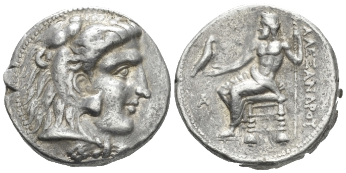 Kingdom of Macedon, Alexander III, 336 – 323 Aradus Tetradrachm circa 330-320 - Ex New York sale 173, 2013, 97 (part of).  (Starting Bid £ 150 *)
